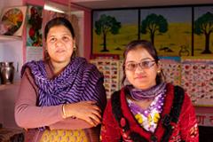Two women Anganwadi (Courtyard) Centre in Tonk, Rajastan