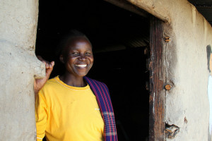 Woman in Kenya. (Credit: S.Malyon/CIAT)