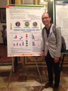 Hoang The Ky, Research Officer at HealthBridge, presents his research on how promoting agrobiodiversity impacts dietary diversity in women and children in Vietnam.