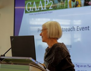 Caren Grown delivers the opening keynote (Photo credit: IFPRI)