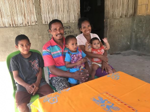 Timorese family participating in the study (Photo credit: Gianna Bonis-Profumo)