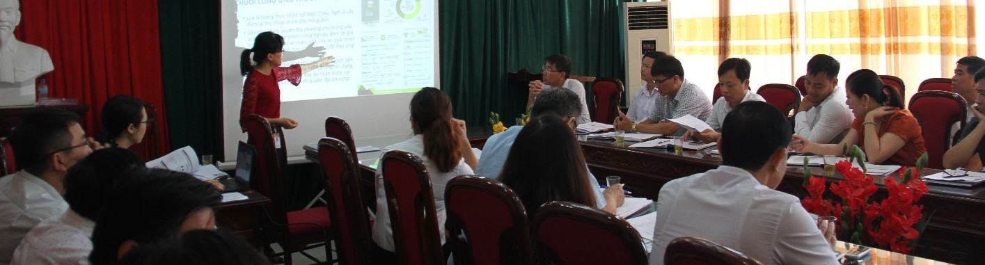 Multi-Stakeholder Workshops for Food Systems Profiles at the A4NH Benchmark Sites Along Vietnam's Rural-Urban Transect